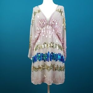ASOS Vintage Kimono Mini Dress w/ Sequins /(NWT)